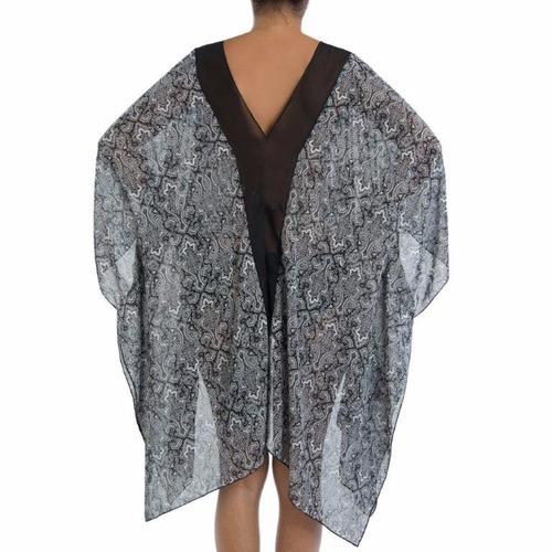 kimono china negro para mujer squalo