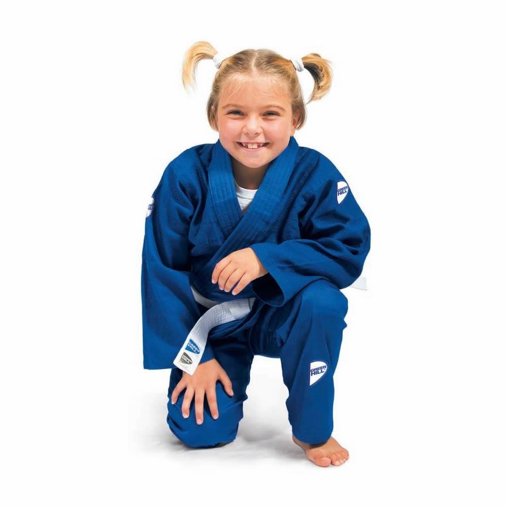 Kimono De Judô Infantil Trançado Com Faixa Green Hill