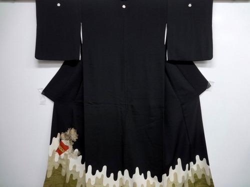 kimono de seda   de los 60s
