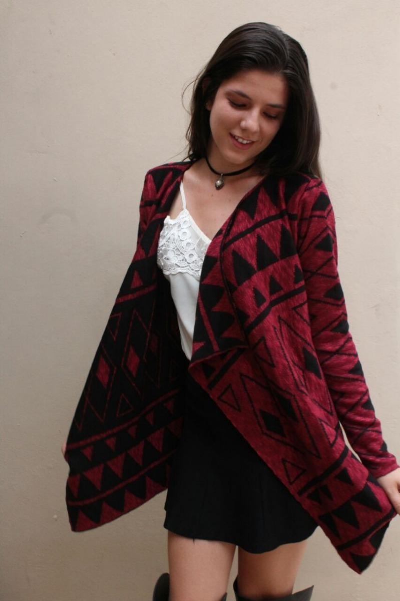 381f92df96 Kimono Étnico De Tricot Feminino Casaco Blusa Manga Longa Pm - R  59 ...