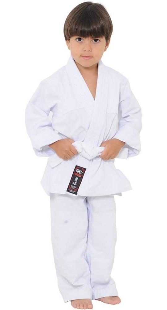 Kimono+faixa Bjj Judo Gi Jiu Jitsu-brim Reforçado-infantil