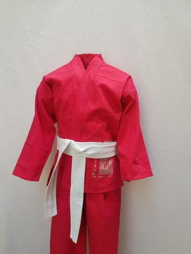 kimono infantil jiu-jitsu reforçado + faixa branca grátis
