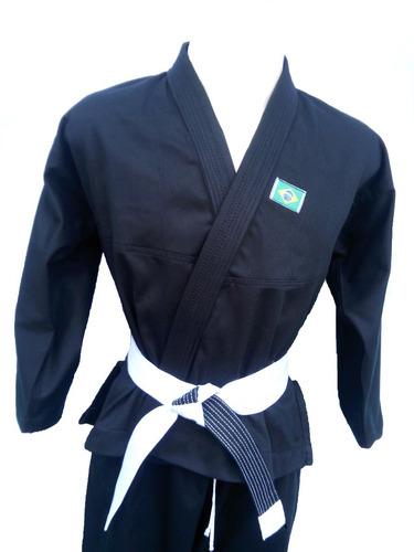 kimono infantil judo jiujitsu  reforçado com faixa