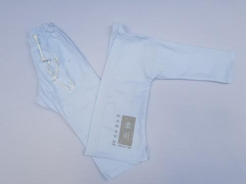 kimono infantil karatê reforçado + faixa branca grátis