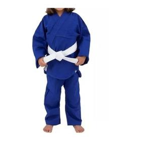 Kimono Infantil Torah Reforçado Judô E Jiujitsu Azul