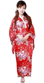 0691c384f Kimono Japonés / Yukata Color Rojo / Vestido Japones