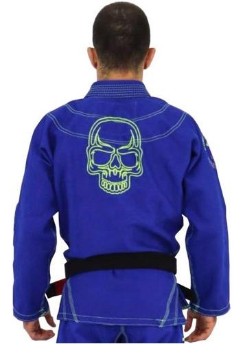 kimono jiu jitsu kvra shadow trançado azul royal