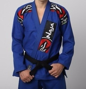 kimono jiu jitsu naja azul prata