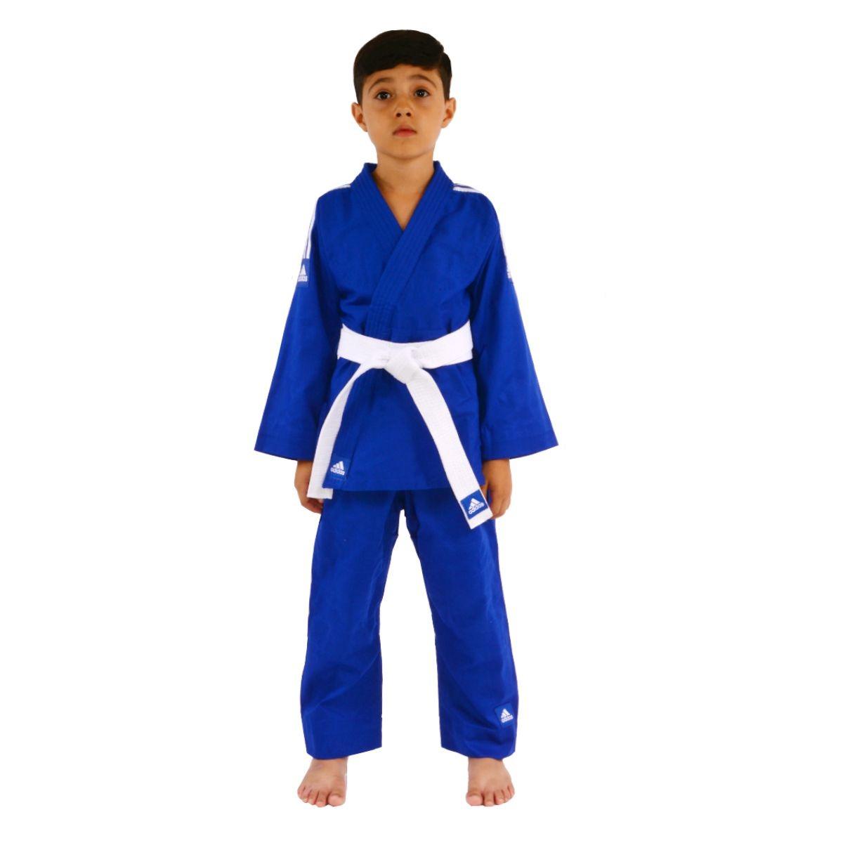 01d8c731187 kimono judô adidas infantil reforçado azul - 30% off. Carregando zoom.