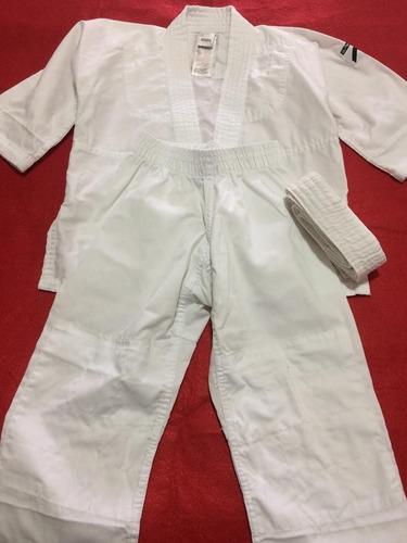 Kimono Judô Infantil Branco Reforçado Usado 1 Vez N03 - R