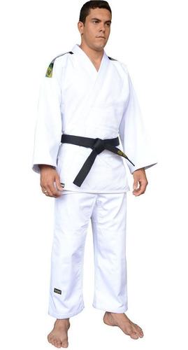 kimono judo adulto shinai reforçado fx branca c/ nota fiscal