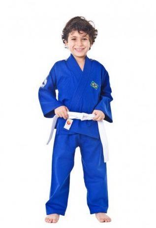 6bf9f8951 Kimono Judo Brasil Azul Infantil Dragão -   4.261