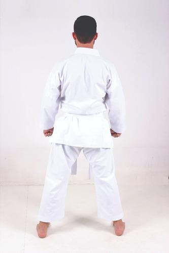 kimono karate adulto reforçado + faixa branca + brinde