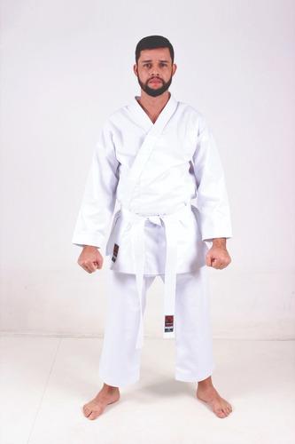 kimono karate adulto reforçado + faixa + brinde (oferta)
