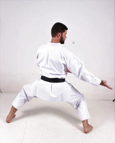 kimono karate lona k10 medium canvas reforçado + brinde
