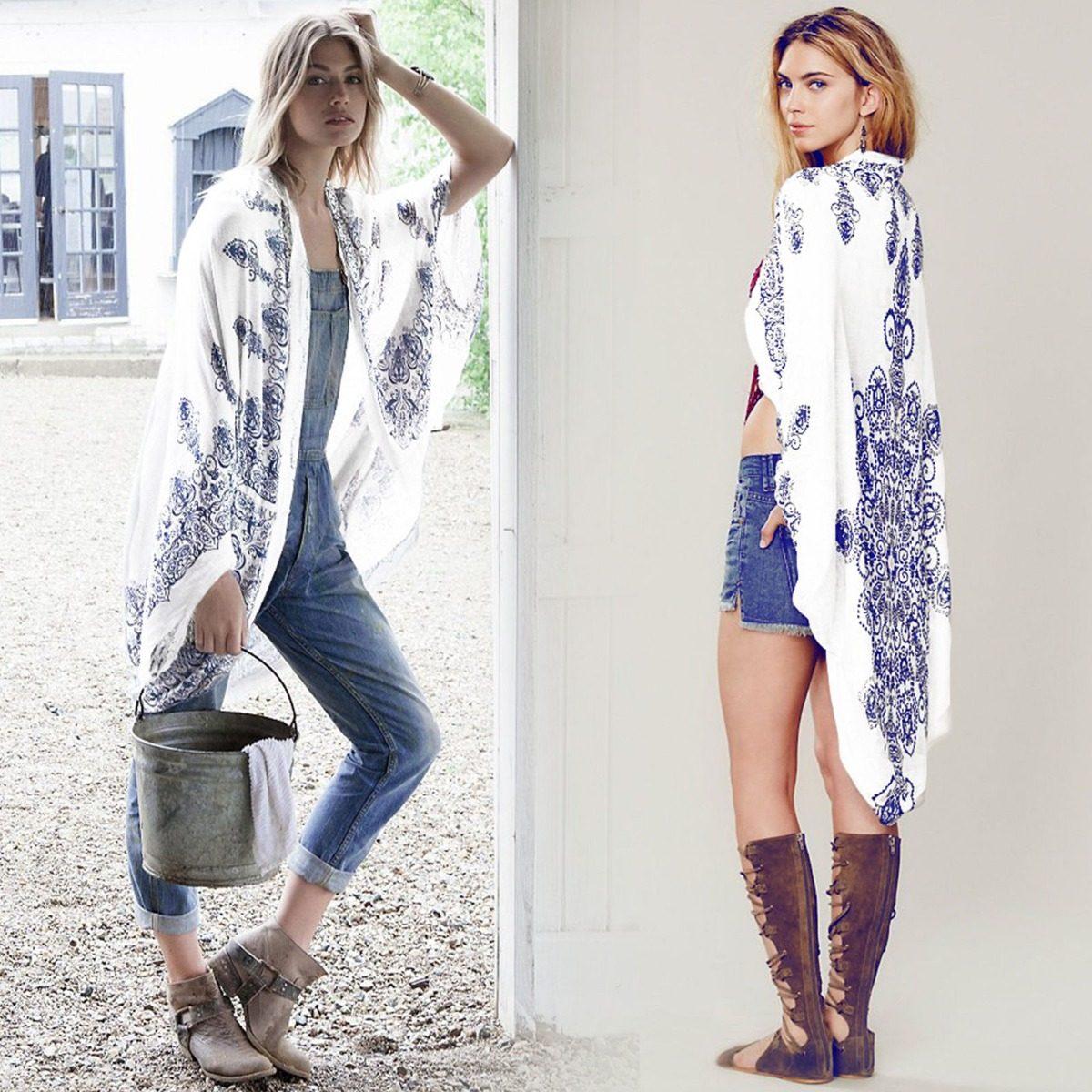 Kimono Largo Patrón Cerámica - $ 27.990 en Mercado Libre