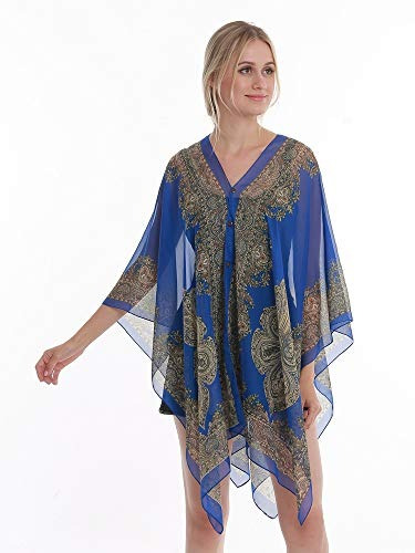 kimono pañuelo de gasa para mujer, ligero, transparente