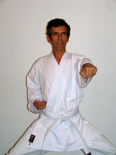 kimono para karate  de brim 100°/° algodâo  pesado c/faixa
