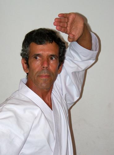 kimono para karate  de brim 100°/°algodão pesado c/ f.branca