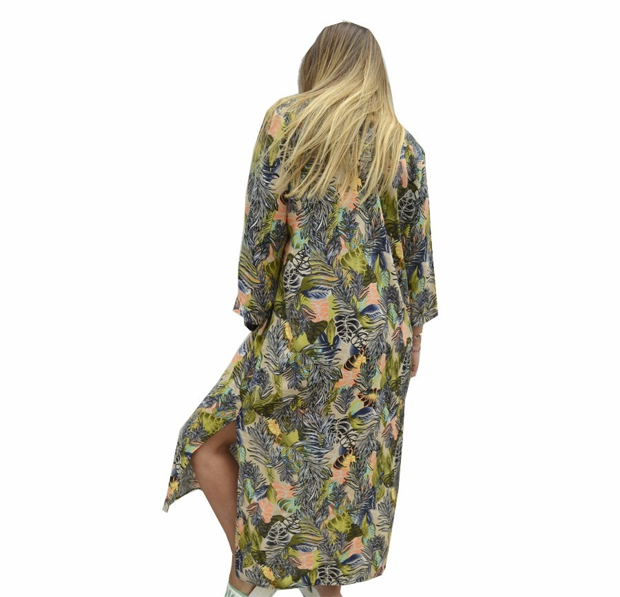Kimono Saco Largo Estampado Mujer The Big Shop - $ 630,00 en Mercado ...