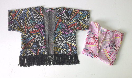 kimono saten estampado para niña maximini