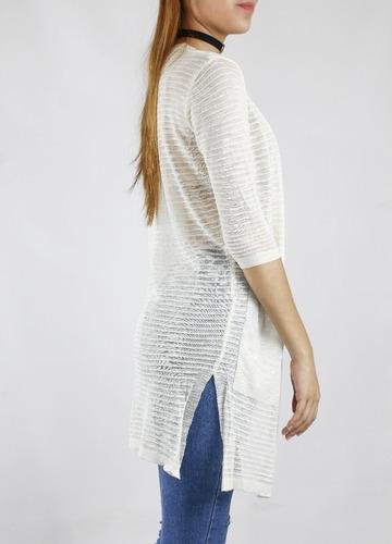 kimono synergy de encaje blanco 211b