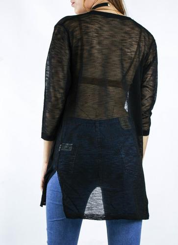 kimono synergy de encaje negro 211b