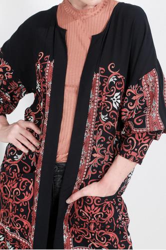 kimono tennis, estampado arabescos tennis