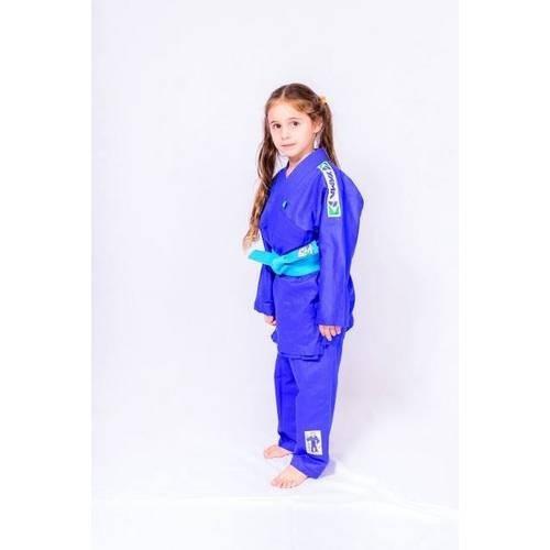 kimono yama reforçado infantil azul