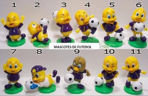 kinder ovo - coleção compl. - mascote ac fiorentina (icam)