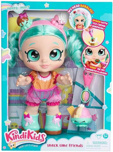 kindi kids muñeca peppa menta interactiva shopkins original