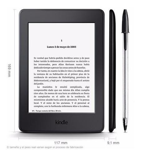 kindle paperwhite 300ppi negro amazon, luz, 4gb, wifi