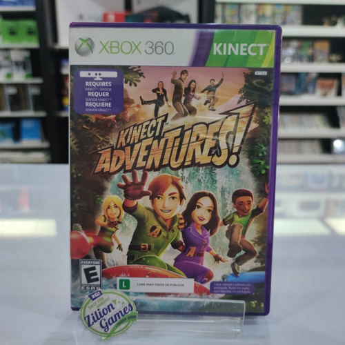 kinect adventures kinect xbox 360 - completo