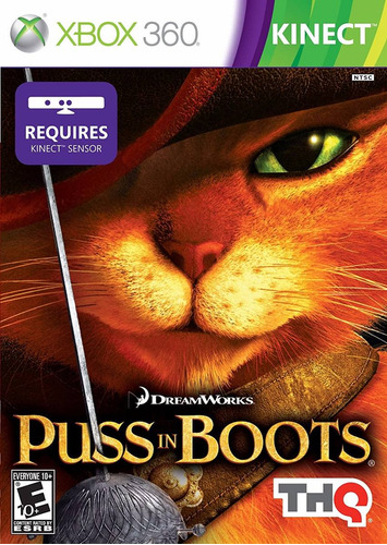 kinect puss in boots xbox 360