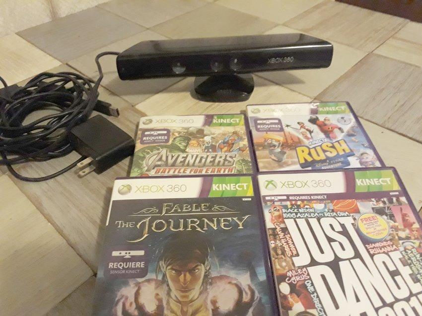 Kinect Sensor Para Consola Xbox360 4 Juegos Villa Crespo