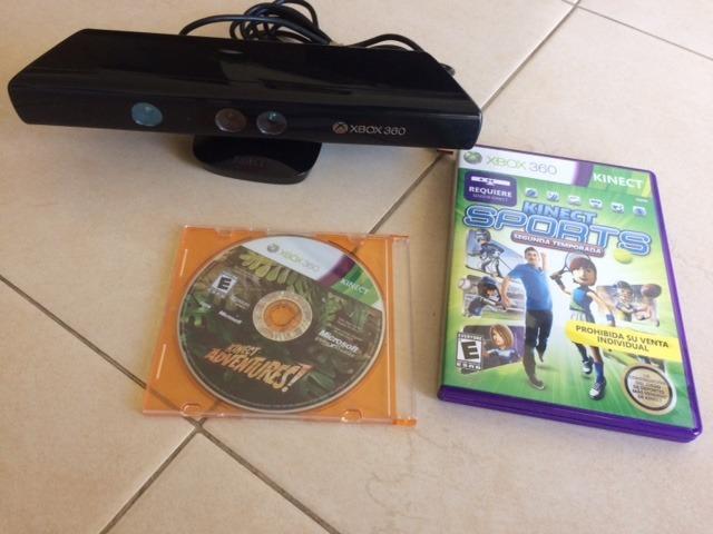 Kinect Xbox 360 Con 2 Juegos Gratis 549 00 En Mercado Libre