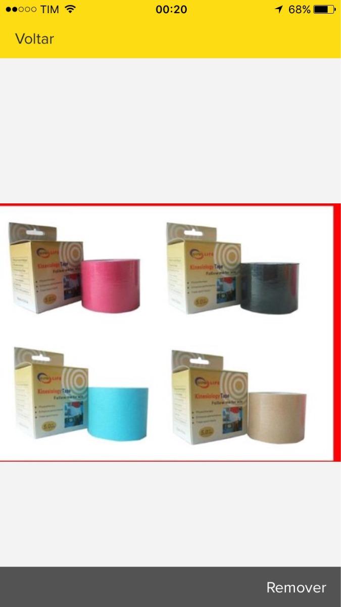 16945a18b0 Kinesio Tape Taping Bandagem 5 Metros Todas As Cores!! - R  36