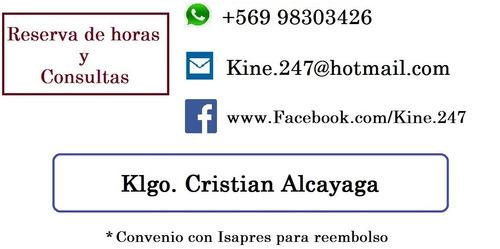 kinesiologo / kinesiologia a domicilio