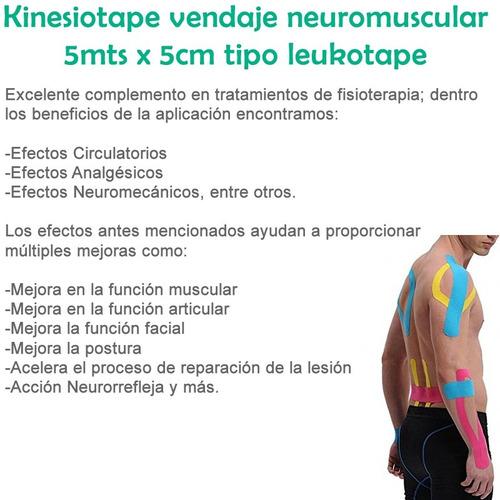 kinesiotape vendaje neuromuscular 5mts x 5cm tipo leukotape