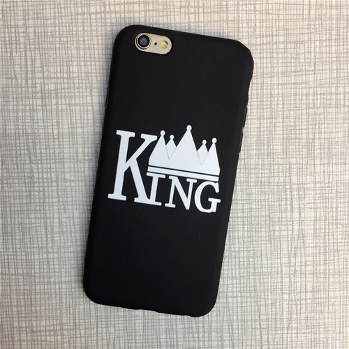 king and queen - carcasa protectora para iphone 7/8 (tpu), c