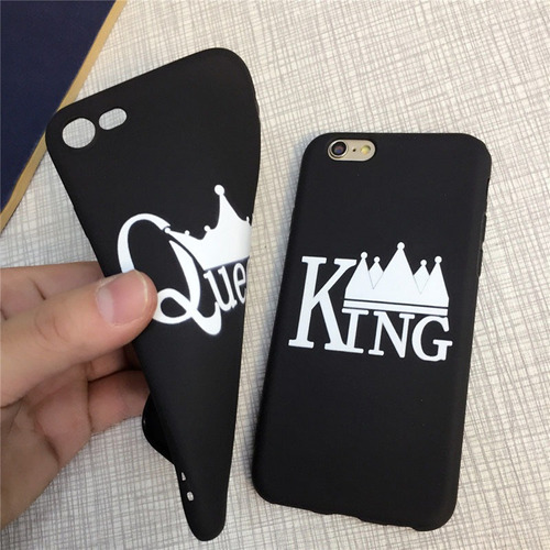 king and queen - carcasa protectora para iphone 7/8 (tpu), c