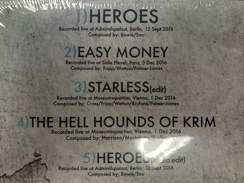 king crimson: heroes ep - cd