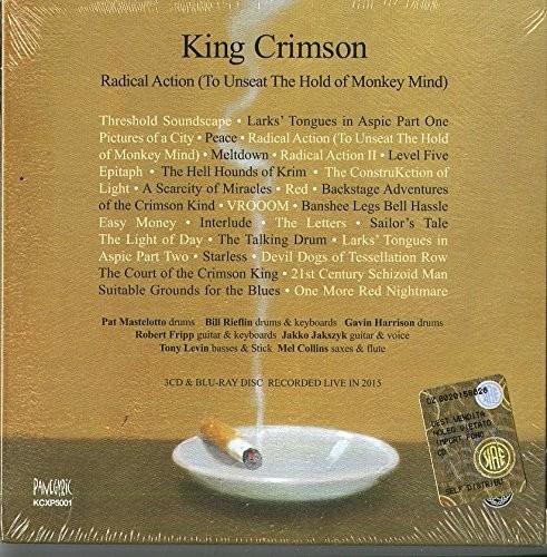 king crimson radical action  box con 3cd + blu-ray nuevo imp