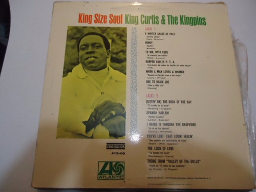 king curtis & the kingpins / king size soul vinyl lp acetato