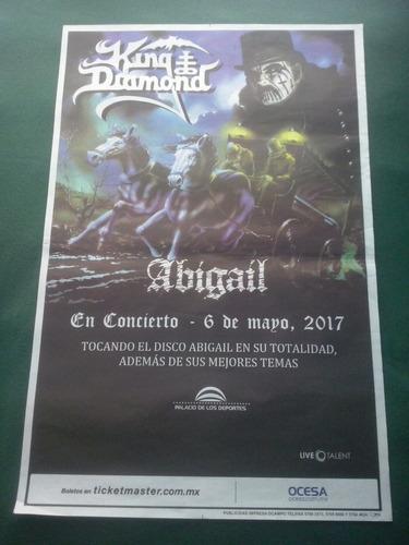 king diamond poster oficial promo palacio dep. abigail 2017