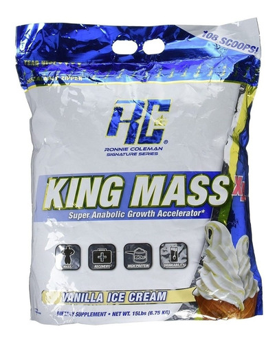 king mass 15 lbs - whey r coleman + obsequio gratis