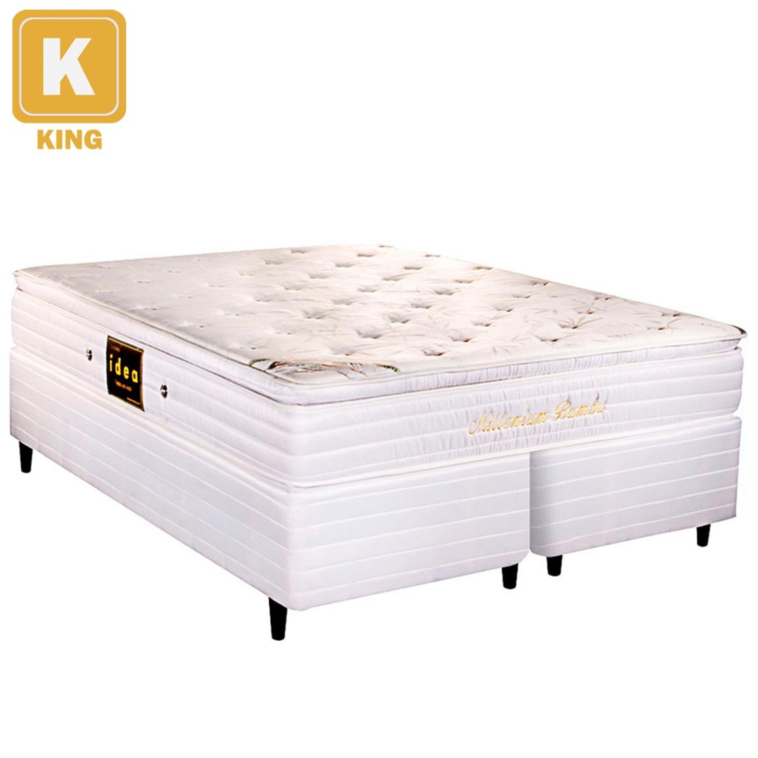 Cama box king size herval colch o mola ensacada r 1 for Cama queen size or king size