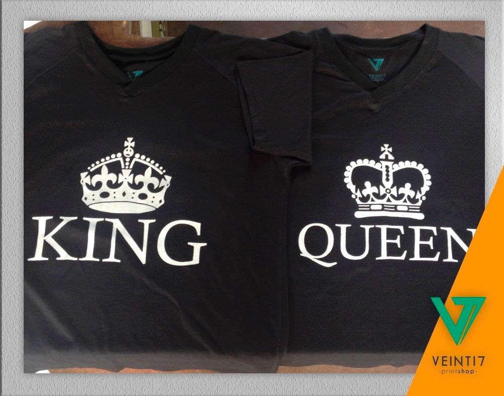 foto de King Queen Pareja Novios Franela Camisetas Estampado
