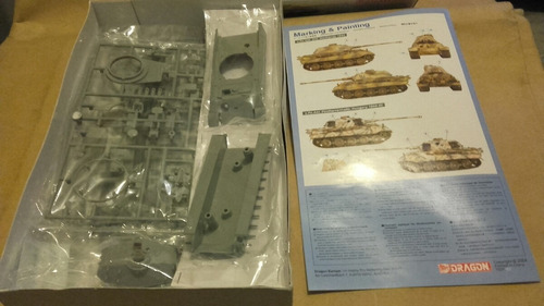 king tiger sd. kfz. 182 (porsche turret) a esc 1/72 dragon