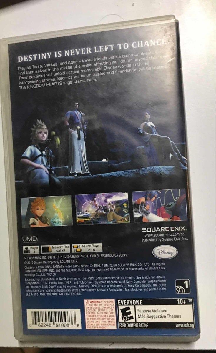 Kingdom Hearts Birth By Sleep Psp Envió Gratis Por Dhl - $ 700 00